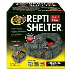 Boîte humide Repti Shelter 3 en 1 Zoomed