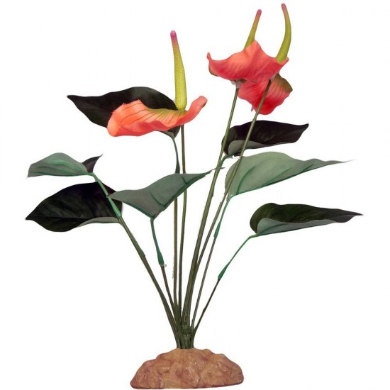 "Plante plastique ""Anthurium Bush "" 29cm"