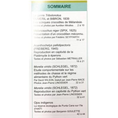 Situla n°17 - Morelia viridis, Tribolonotus, voyage, ...