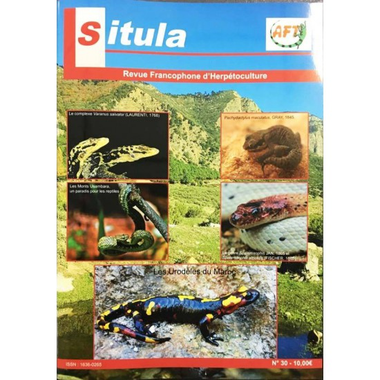 Situla n°30 - Varanus salvator, urodèles, le paradis des reptiles,...