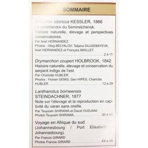 Situla n°27 - Drymarchon couperi, Lanthanotus, voyage,...