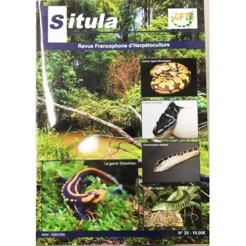 "Situla n°28 - Python anchietae, Le Python regius mutation ""Bourgogne"", Tylototriton,..."