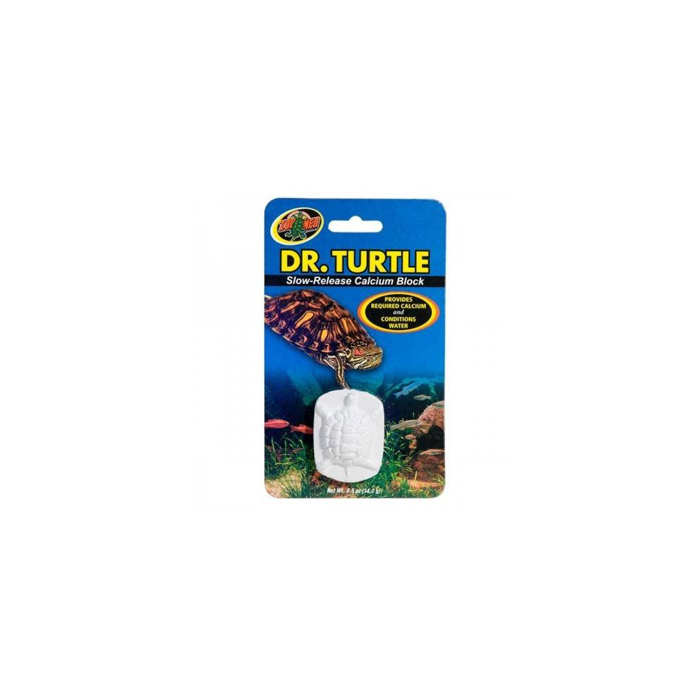 Bloc Calcium Tortue aquatique Dr Turtle Zoomed