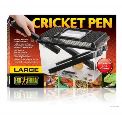 """Boite d'élevage + distributeur d'insectes """"Cricket pen""""- EXO TERRA"""