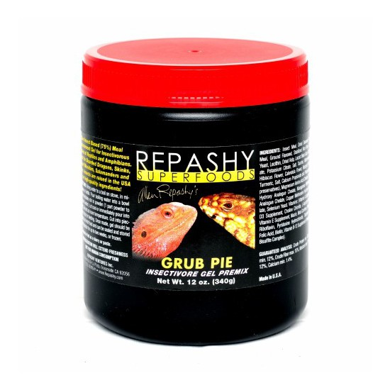 Nourriture insectivores Repashy Grub Pie