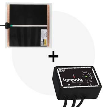Kit tapis chauffant 20W + thermostat KOMODO