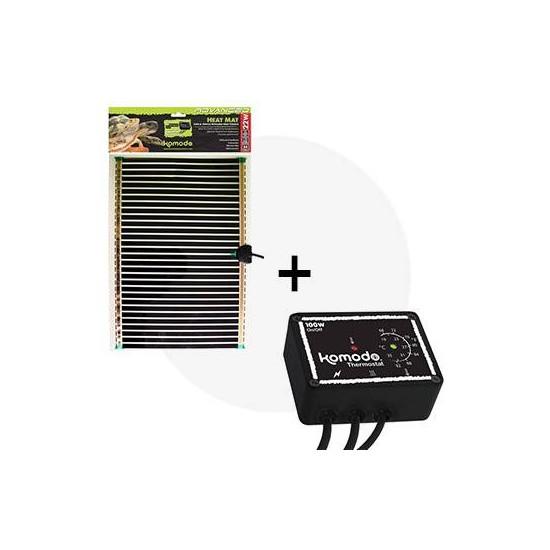 Kit tapis chauffant 22W + thermostat Komodo