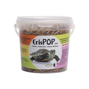 Crispop 100% naturel - Larves séchées pour tortues aquatiques et autres insectivores